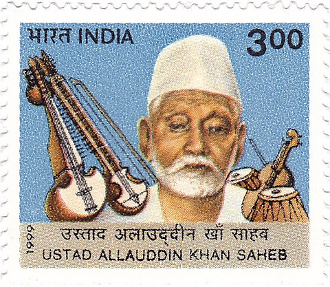 480px-Allauddin_Khan_1999_stamp_of_India